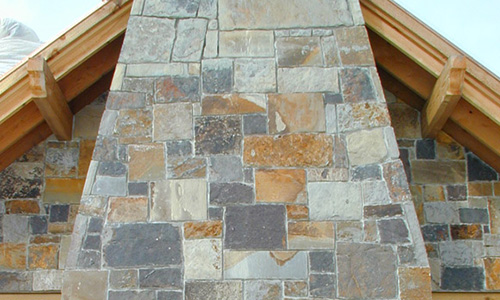 Farmers Blue Brown Chopped veneer from Pine's Stone Co.