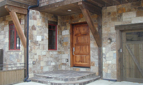 Midway and Pioneer chopped veneer from Pine's Stone Co.